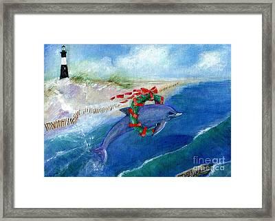 Dolphin Holiday Framed Print
