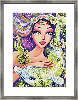 Dolphin Mermaid Framed Print
