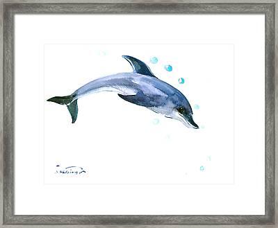 Dolphin Framed Print by Suren Nersisyan
