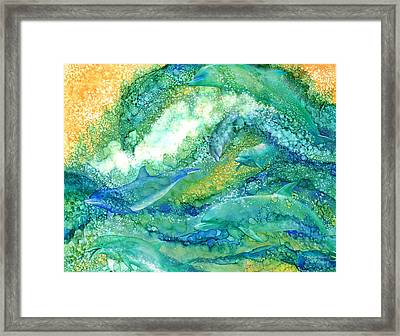 Dolphin Waves 2 Framed Print