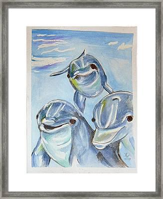 Dolphins Framed Print by Loretta Nash