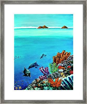 Dolphins Moorish Idle Lion Fish #253 Framed Print by Donald k Hall