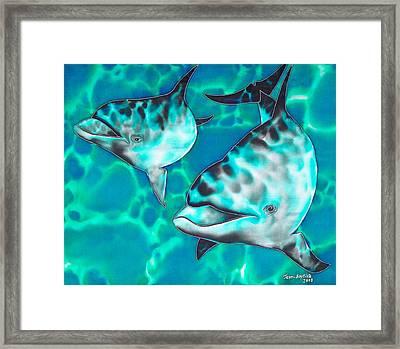 Dolphins Of Sanne Bay Framed Print by Daniel Jean-Baptiste