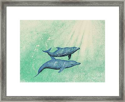 Dolphins Framed Print by Wayne Hardee