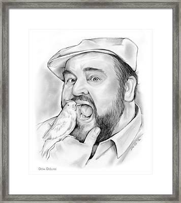 Dom Deluise Framed Print by Greg Joens