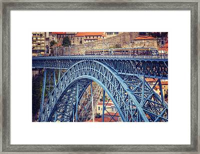Dom Luis Bridge Porto  Framed Print by Carol Japp