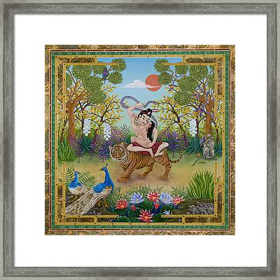 Dombi And The Dakini Framed Print by Nadean O'Brien