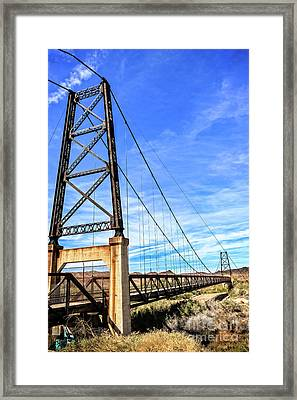 Framed Print featuring the photograph Dome Bridge by Robert Bales