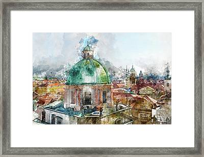 Dome In Prague Czech Republic Framed Print by Brandon Bourdages