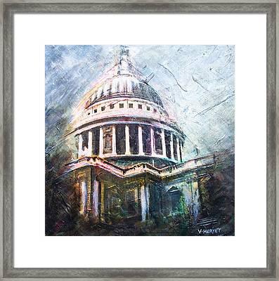 Dome Of Saint Pauls Framed Print by Victoria Heryet