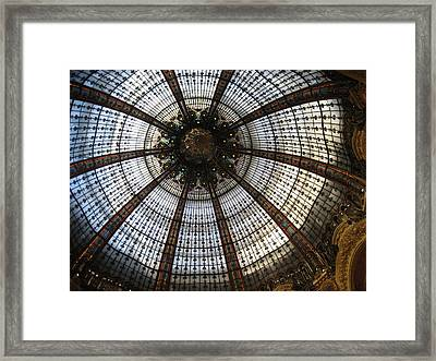 Dome Of The Galleries Lafayette Framed Print by Victoria Heryet