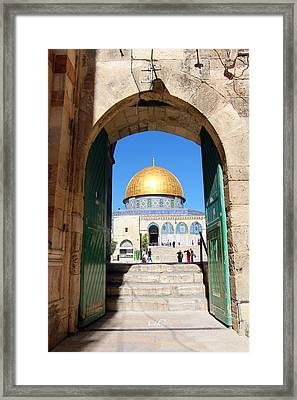 Dome Of The Rock Gate Framed Print