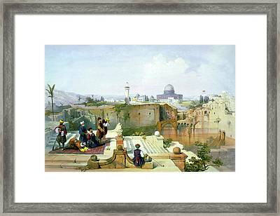 Dome Of The Rock In The Background Framed Print
