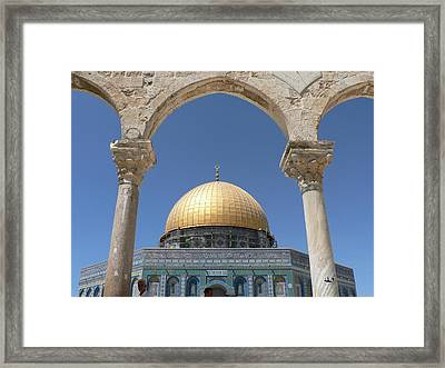 Dome Of The Rock Framed Print by James Lukashenko