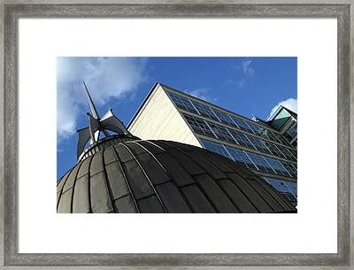 Domed Down Framed Print by Jez C Self