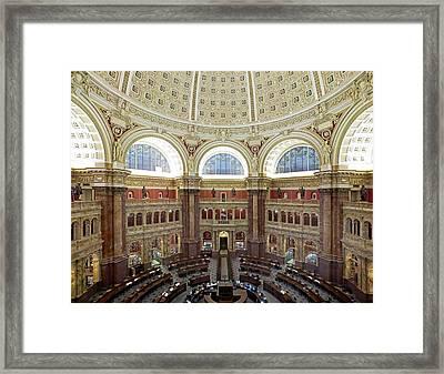 Domed Main Reading Room Framed Print by Everett