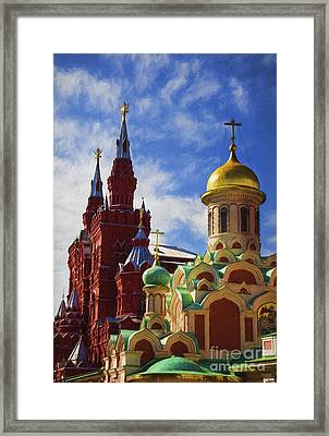 Domes And Towers Framed Print