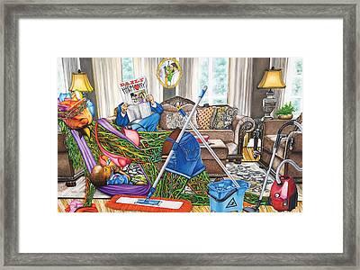 Domestic Abuse Framed Print