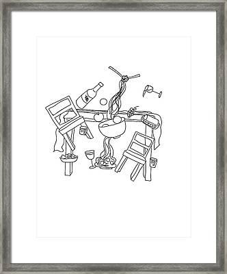 Domestic Chaos - Dining Room Framed Print