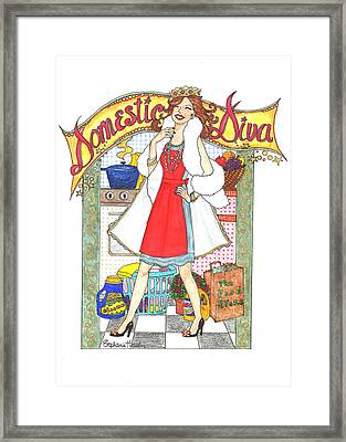 Domestic Diva Framed Print