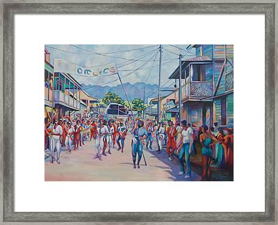 Dominica Carnival Framed Print