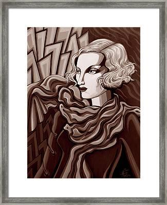 Dominique In Sepia Tone Framed Print by Tara Hutton