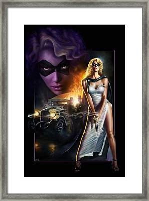 Domino Lady Framed Print