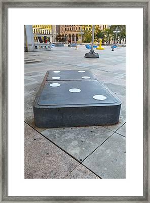 Domino - Philadelphia Framed Print by Bill Cannon