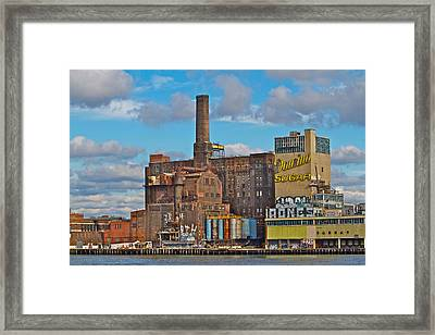 Domino Sugar Water View Framed Print by Alice Gipson