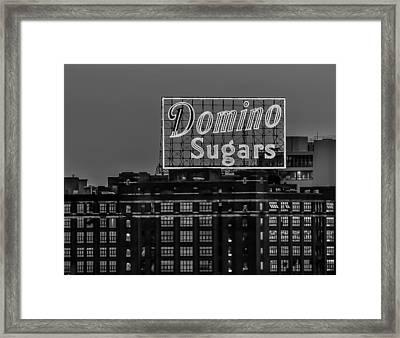 Domino Sugars Sign Framed Print