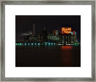 Domino Sugars Wide Framed Print