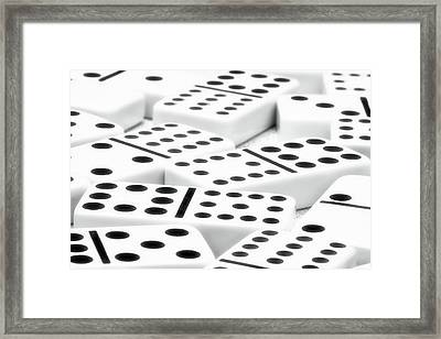 Dominoes II Framed Print