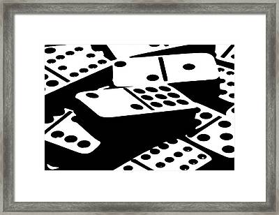 Dominoes IIi Framed Print by Tom Mc Nemar