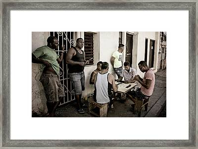 Framed Print featuring the photograph Dominoes by Joan Carroll