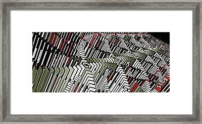 Dominos Framed Print by David BERNARD