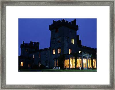 Domoland Castle At Night Framed Print by Carl Purcell