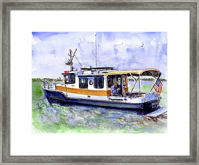 Don And Kathys Boat Framed Print