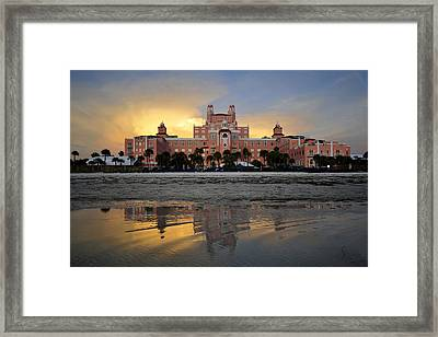 Don Cesar Reflection Framed Print by David Lee Thompson