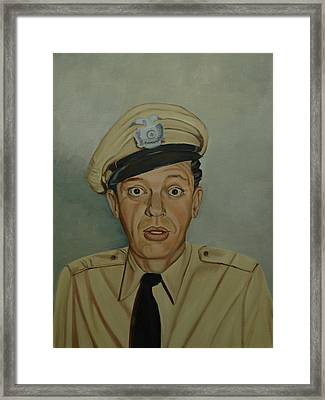 Don Knotts As Barney Fife Framed Print by Tresa Crain