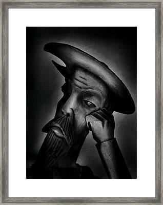 Don Quijote De La Mancha  Framed Print by Toni Fontana