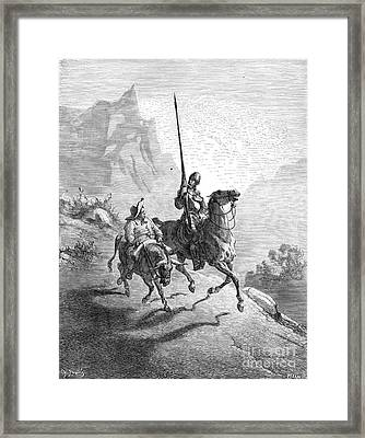 Don Quixote And Sancho Framed Print by Granger