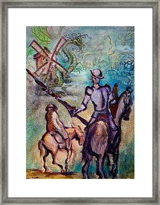 Don Quixote With Dragon Framed Print
