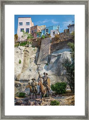 Don Quixote Y Sancho Panza Framed Print by Inge Johnsson