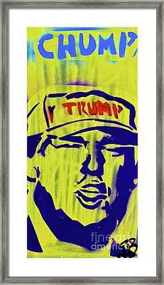 Donald Chump Framed Print by Tony B Conscious