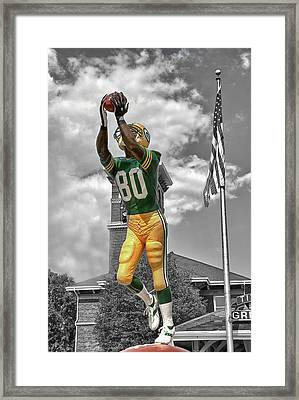 Donald Driver Statue Framed Print by Joel Witmeyer