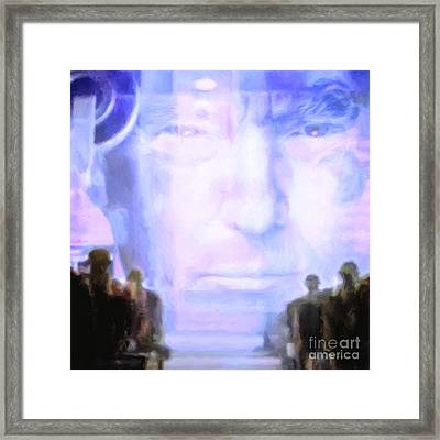 Framed Print featuring the photograph Donald Trump 1984 Square by Wingsdomain Art and Photography