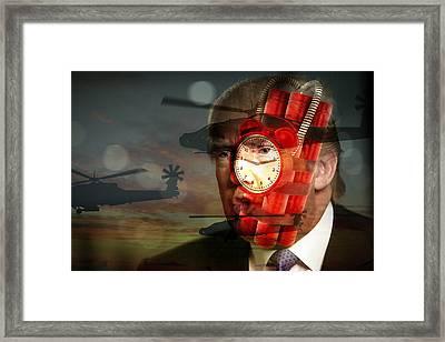 Donald Trump Art Framed Print by Marvin Blaine