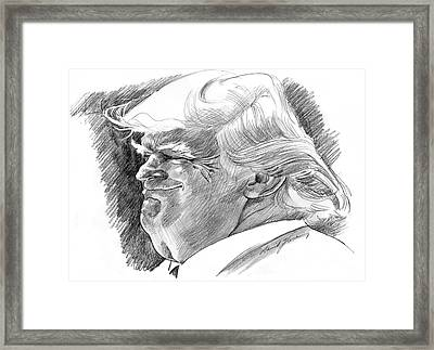 Donald Trump Framed Print