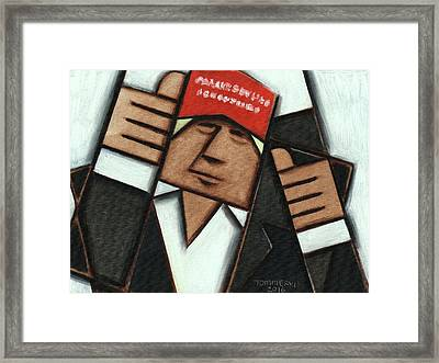 Donald Trump Red Hat Thumbs Up Art Print Framed Print by Tommervik