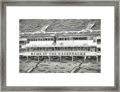 Donald W. Reynolds Razorback Stadium Framed Print by JC Findley